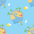 Summer Day On Earth Seamless Pattern Royalty Free Stock Photos - 63884608