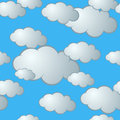 Seamless Cloud Pattern Stock Photos - 6391003