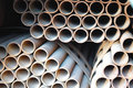 Steel Pipes Stock Image - 6396151