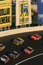 NASCAR - Stacked Up In Turn 3 Royalty Free Stock Photography - 6396177