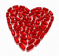 Hearth Of Capsules On White Stock Image - 6397681