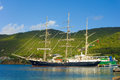 The Arrival Of The Sailing Ship Tenacious In The Windward Islands Stock Images - 63917864