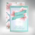Wedding Invitation Card Suite With Daisy Flower Templates Royalty Free Stock Photography - 63918117