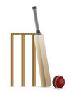 Cricket Bat, Ball, And Wicket Illustration Stock Images - 63924254