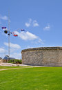 Flag Display: The Round House Historic Site Stock Images - 63938474