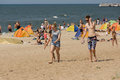 Summer On A Beach In A Palanga Stock Photo - 63942300