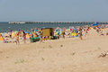 Summer On A Beach In A Palanga Royalty Free Stock Image - 63942386