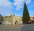 Christmas In Mary S Well Square, Nazareth Royalty Free Stock Image - 63947836