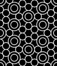Vector Modern Seamless Sacred Geometry Pattern Circles, Black And White Abstract Royalty Free Stock Photos - 63970108
