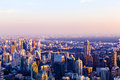 Cityscape Of Downtown Of Thailand At Sunset. Stock Photography - 63974512