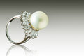Beautiful Pearl Ring Stock Photography - 63981302