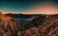 Sunset At Studen Kladenets Dam, Bulgaria Royalty Free Stock Photos - 63987148