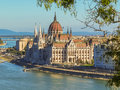 Hungarian Parliament Building And Danube River Stock Image - 63987291