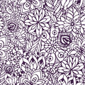 Zentangle Coloring Page. Doodle Seamless Pattern In Vector. Creative Floral Background For Your Design, Wrapping Paper Stock Image - 63989081