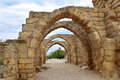 Remains Of The Archs In Ancient City Of Caesarea, Israel Stock Photos - 63993403