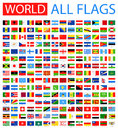 All World Vector Flags. 210 Items.  Stock Photo - 63995430