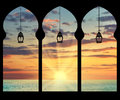 Silhouette Arches Inside Stock Photography - 64005482