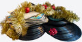 Christmas Still Life With A Vinyl Disc And Balls Christmas Stock Images - 64025484