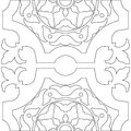 Unique Coloring Book Square Page For Adults Stock Photography - 64028152