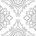 Unique Coloring Book Square Page For Adults - Seamless Pattern  Stock Image - 64028171