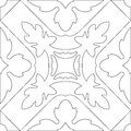 Unique Coloring Book Square Page For Adults - Seamless Pattern  Stock Photos - 64028303
