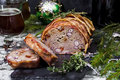 Meat Loaf With Beans Royalty Free Stock Photography - 64038717