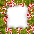 Christmas Background With Lollipop And Pine Tree Stock Photos - 64054893