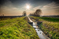 Drought In The Winter In An Irrigation Canal Stock Images - 64065964