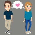 Teenagers In Love Stock Photos - 64095093