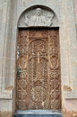 Carved Door To The Church. Armenia Stock Images - 64114404