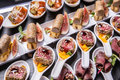 Gourmet Appetizers. Stock Photography - 64114432