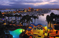 San Diego Harbor At Night Stock Images - 64117764