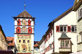 Ancient Historic Medieval Old Town. Wangen Im Stock Photos - 64124653