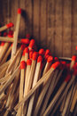 House Hold Safety Matches Pile Stock Photography - 64135242