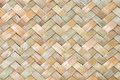 Traditional Thai Style Pattern Nature Background Of Brown Handicraft Weave Texture Wicker Surface For Furniture Materia Royalty Free Stock Image - 64147146