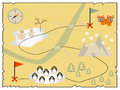 Illustration Of Creative Treasure Map Flat Design. Royalty Free Stock Images - 64148329