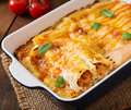 Meat Cannelloni Sauce Bechamel. Stock Image - 64153141