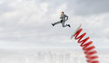 He Did Great Career Jump Stock Image - 64153421
