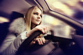 Girl Driving A Car Royalty Free Stock Images - 64154409