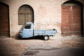 Small Truck On The Street Royalty Free Stock Photo - 64157535