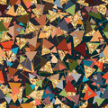 Triangle Golden Glitter Crazy Seamless Pattern Royalty Free Stock Images - 64159029