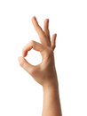 Human Hand Gesture Is All Right Everything Is OK. Royalty Free Stock Photos - 64165838