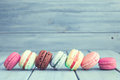 Vintage Colorful Macaroons Stock Photos - 64167573