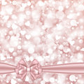 Shiny Pink Background With Bow Royalty Free Stock Photo - 64186495