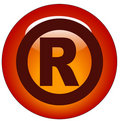 Registered Icon Or Button Stock Image - 6422551