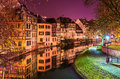The Ill River In Petite France Area, Strasbourg Royalty Free Stock Photo - 64216725