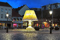 The Giant Lamp On The Lilla Torg Square Of Malmo, Sweden Stock Photo - 64224630