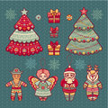 Set Of Color Christmas Toys. Holiday Decorations. Royalty Free Stock Images - 64243399