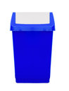 Blue Plastic Flip Top Swing Bin, Kitchen Waste Etc. Royalty Free Stock Photos - 64246358