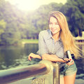 Portrait Of Fashion Hipster Girl With Photo Camera Royalty Free Stock Photo - 64248215